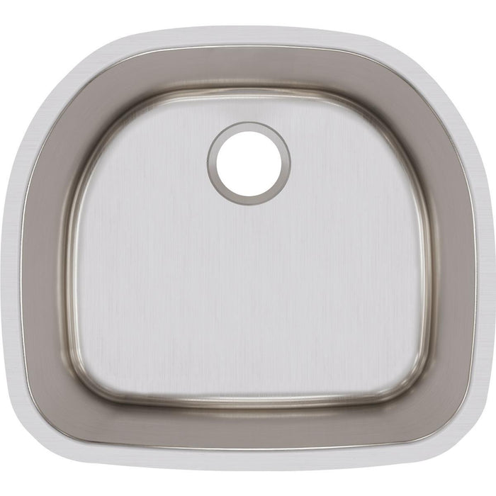 "Elkay Lustertone Classic Stainless Steel 23-5/8"" x 21-1/4"" x 10"", Single Bowl Undermount Sink-DirectSinks"