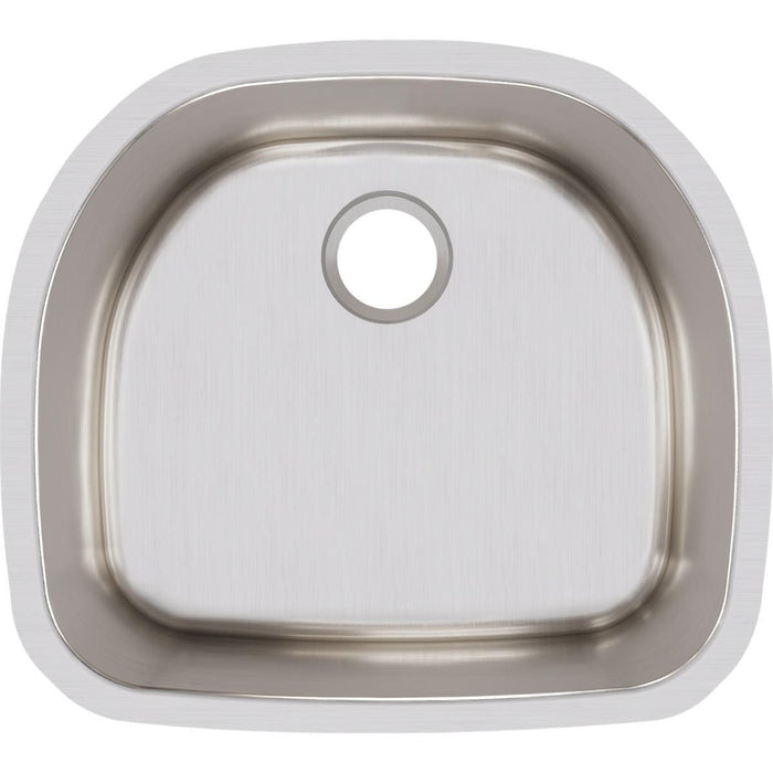 "Elkay Lustertone Classic Stainless Steel 23-5/8"" x 21-1/4"" x 7-1/2"", Single Bowl Undermount Sink-DirectSinks"