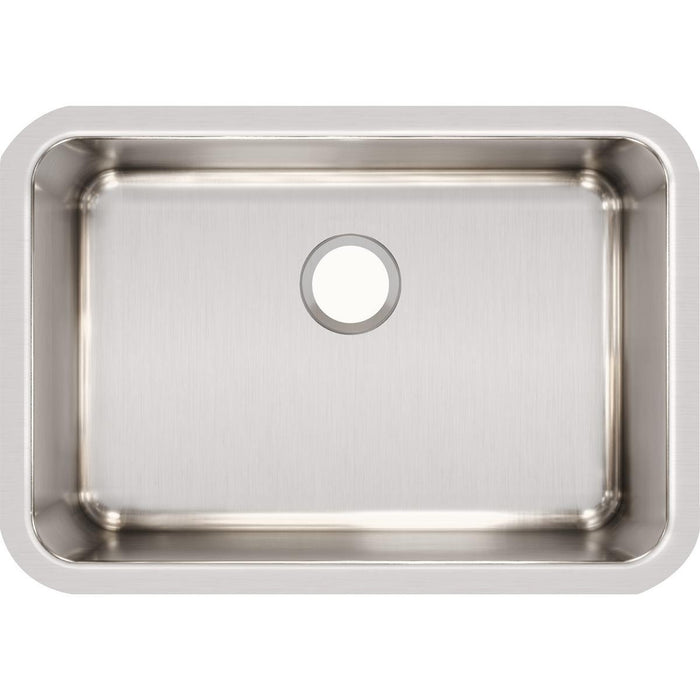 "Elkay Lustertone Classic Stainless Steel 26-1/2"" x 18-1/2"" x 10"", Single Bowl Undermount Sink-DirectSinks"