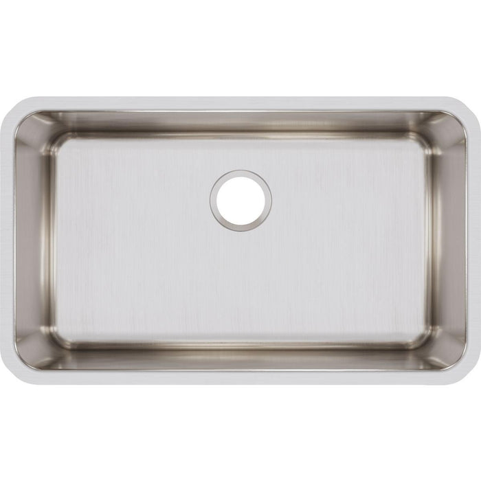 "Elkay Lustertone Classic Stainless Steel 30-1/2"" x 18-1/2"" x 11-1/2"", Single Bowl Undermount Sink-DirectSinks"
