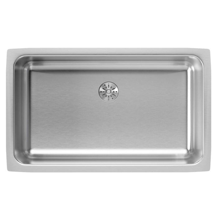 "Elkay Lustertone Classic Stainless Steel 30-1/2"" x 18-1/2"" x 7-1/2"", Single Bowl Undermount Sink with Perfect Drain-DirectSinks"