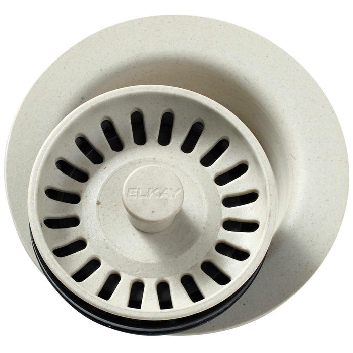 "Elkay Polymer 3-1/2"" Disposer Flange with Removable Basket Strainer and Rubber Stopper-DirectSinks"