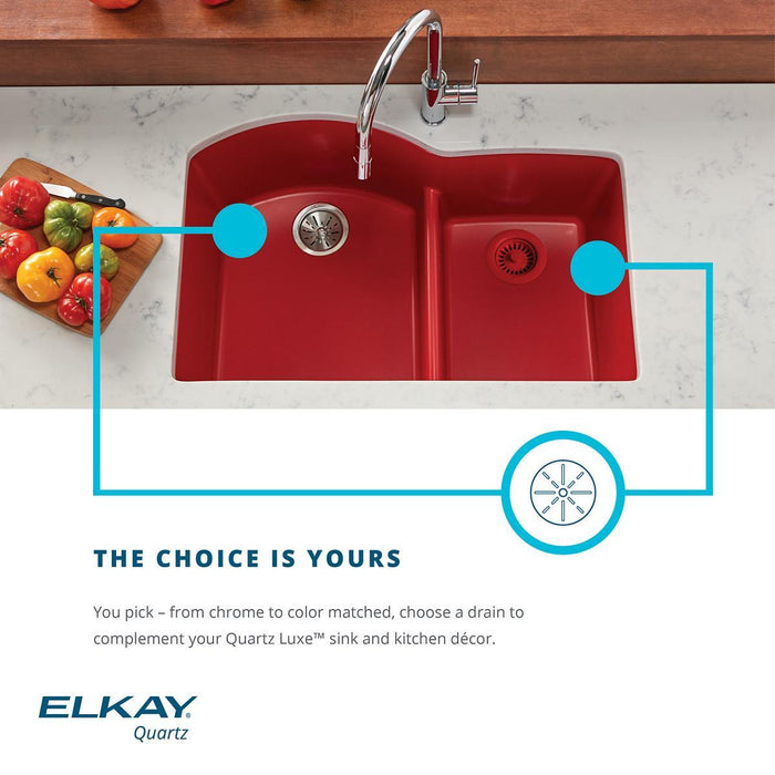 Elkay Polymer Drain Fitting with Removable Basket Strainer and Rubber Stopper-DirectSinks