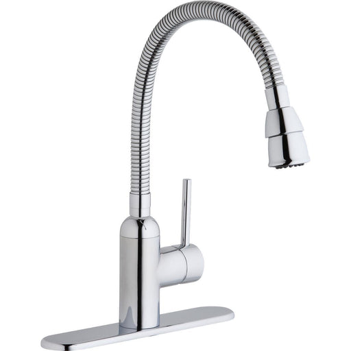 Elkay Pursuit Laundry/Utility Faucet with Flexible Spout Forward Only Lever Handle Chrome-DirectSinks