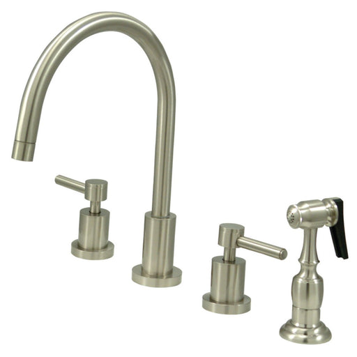 Kingston Brass Concord 8-Inch Widespread Kitchen Faucet with Brass Sprayer
