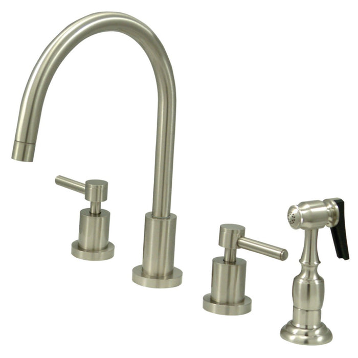 Kingston Brass Concord 8 Inch Widespread Kitchen Faucet With Brass Spr