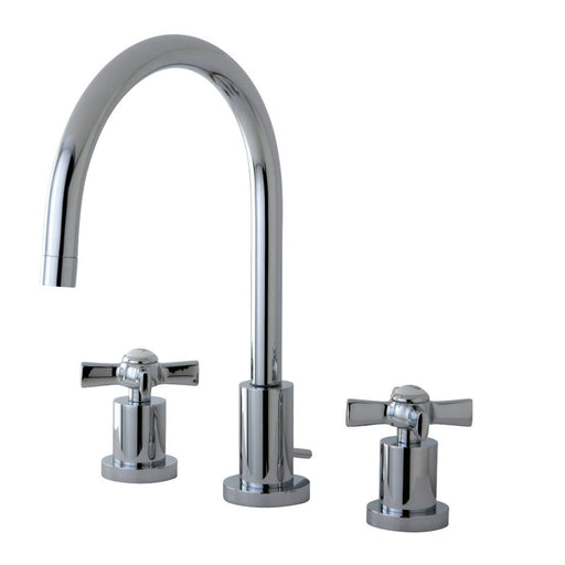 Kingston Brass Millennium Deck Mount 8-Inch Widespread Bathroom Faucet