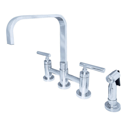 Kingston Brass Manhattan 2-Handle Kitchen Faucet with Brass Side Sprayer