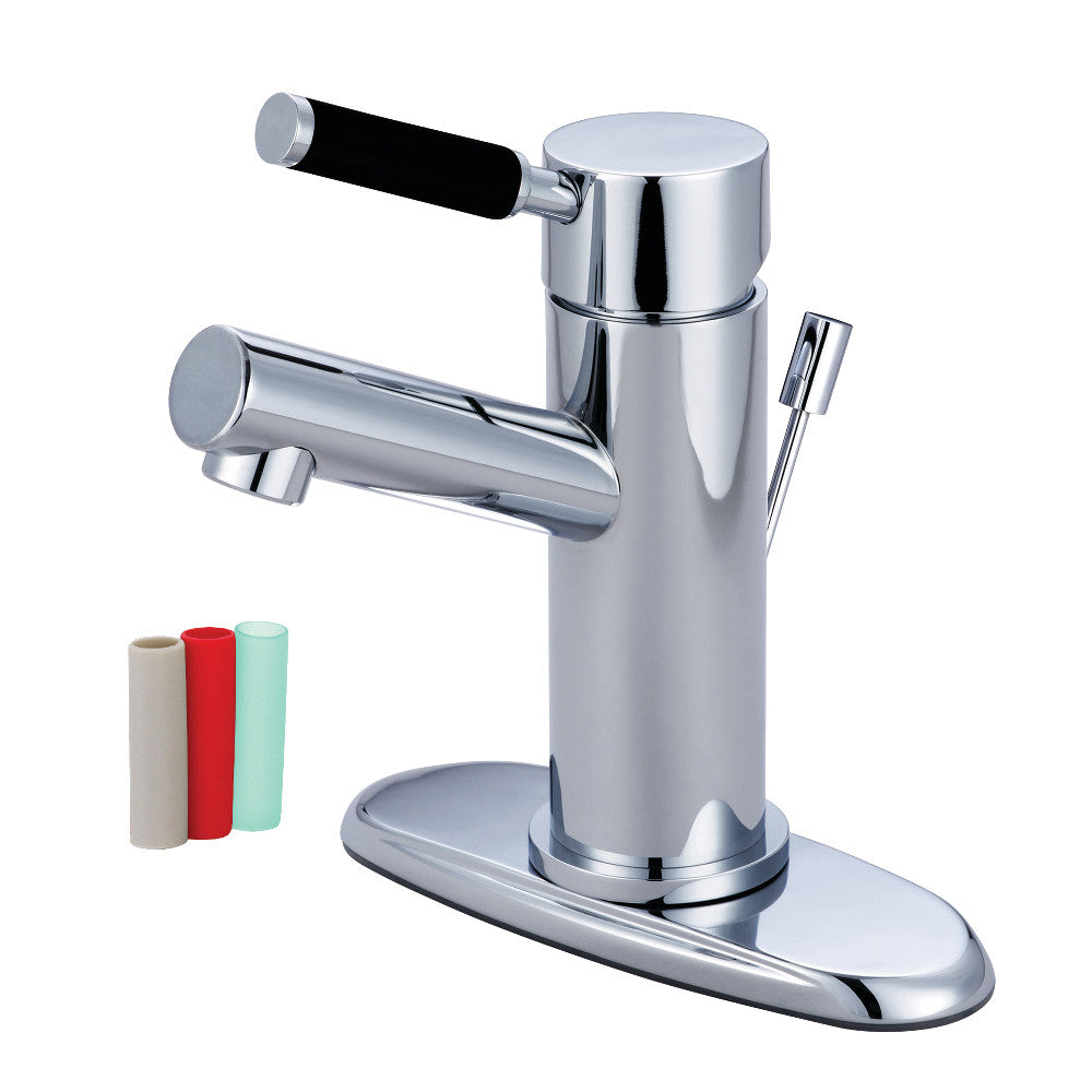 "Kingston Brass Kaiser Single Handle 4"" Centerset Lavatory Faucet with Retail Pop-up"