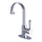 Kingston Brass Fauceture Paris Single-Handle Bathroom Faucet with Deck Plate and Drain