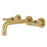 Kingston Brass Milano 2-Handle 8-Inch Wall Mount Bathroom Faucet