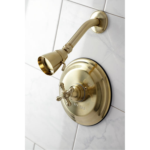 Kingston Brass KB2637BXTSO Metropolitan Shower Trim Only without Valve in Brushed Brass