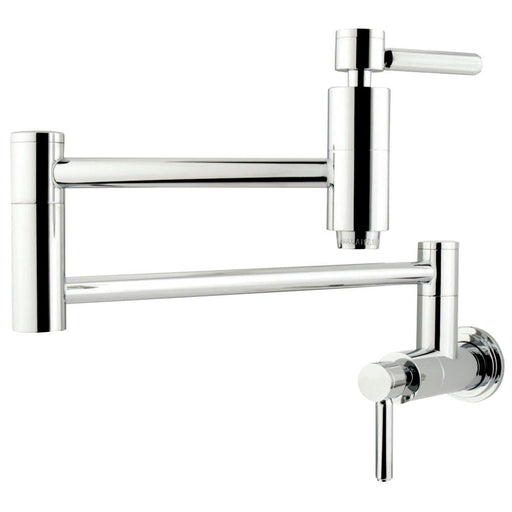 Kingston Brass Concord Wall Mount Single Hole Pot Filler Kitchen Faucet