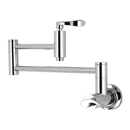 Kingston Brass NuWave Wall Mount Pot Filler Kitchen Faucet