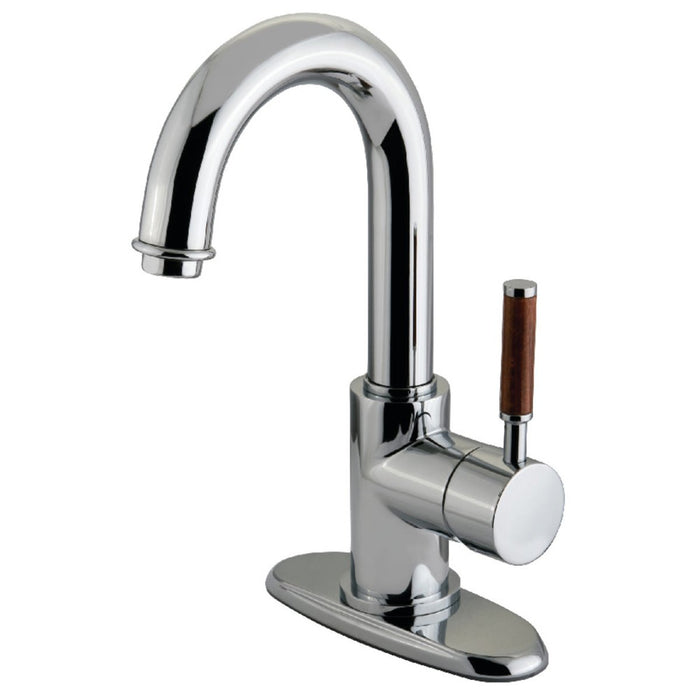 Kingston Brass KS8431DWL 4-Inch Centerset Bathroom Faucet in Polished Chrome-DirectSinks