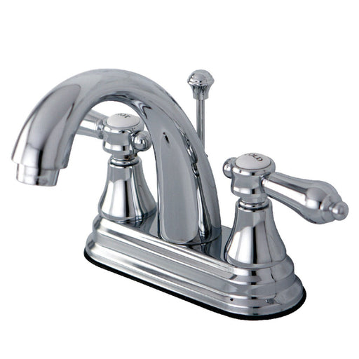 Kingston Brass 4-Inch Centerset Bathroom Faucet with Brass Pop-Up-DirectSinks