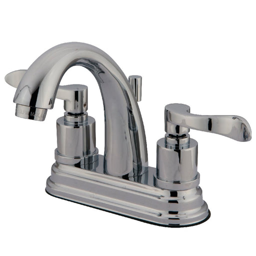 Kingston Brass 2-Handle 4-Inch Centerset Bathroom Faucet with Brass Pop-Up-DirectSinks