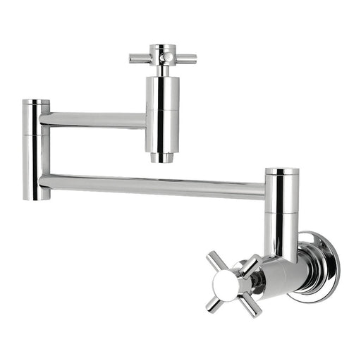 Kingston Brass Concord Wall Mount Single-Hole Pot Filler Kitchen Faucet