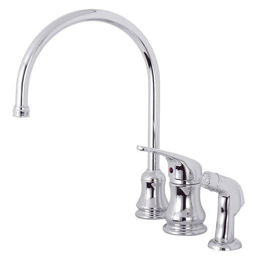 Kingston Brass KS821CSP Single-Handle Kitchen Faucet in Polished Chrome-DirectSinks