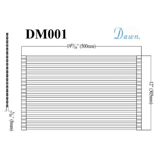 "Dawn ""Universal Fit"" Drain Mat DM001-Kitchen Accessories Fast Shipping at DirectSinks."