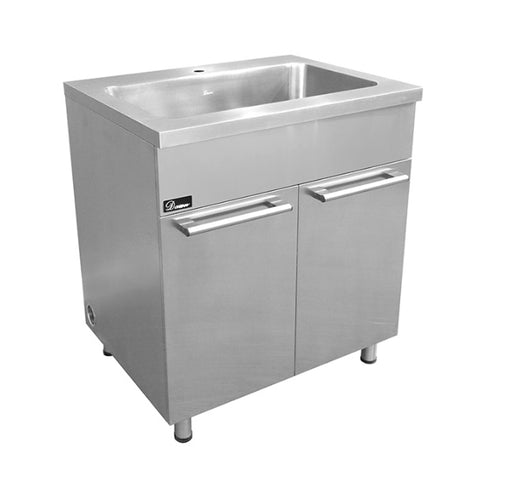 "Stainless Steel 30"" Sink Base Cabinet with Integral Sink, SSC3036, Dawn Kitchen & Bath Products"