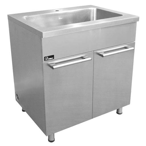 "Stainless Steel 33"" Sink Base Cabinet with Integral Sink, SSC3336, Dawn Kitchen & Bath Products"