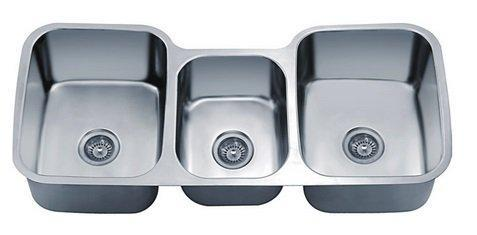 "Dawn 46"" Undermount 40/20/40 Triple Bowl 18 Gauge Kitchen Sink-Kitchen Sinks Fast Shipping at DirectSinks."