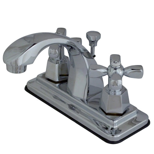 Kingston Brass KS4641HX 4-Inch Centerset Bathroom Faucet in Polished Chrome-DirectSinks