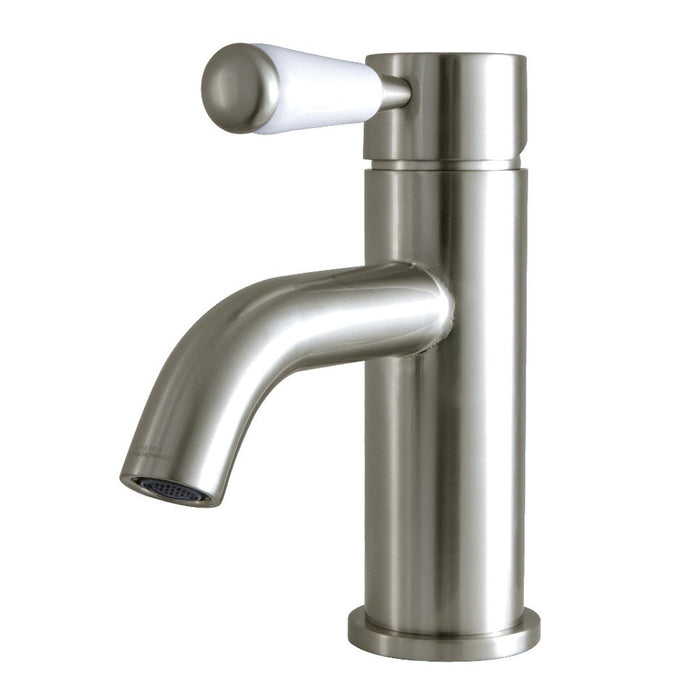 Kingston Brass Fauceture Paris Single-Handle Bathroom Faucet with Drain and Deck Plate