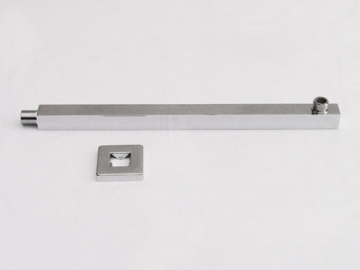 "Alfi Brand AB16SW-BN 16"" Square Wall Mounted Brushed Nickel Shower Arm for Square Rain Shower Heads-DirectSinks"