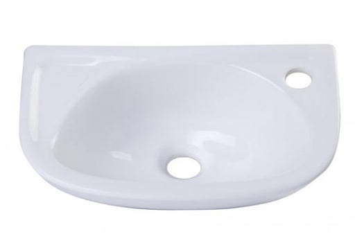 Alfi AB102 Small White Wall Mounted Porcelain Bathroom Sink Basin-DirectSinks