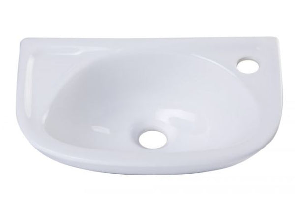 Alfi AB102 Small White Wall Mounted Porcelain Bathroom Sink Basin