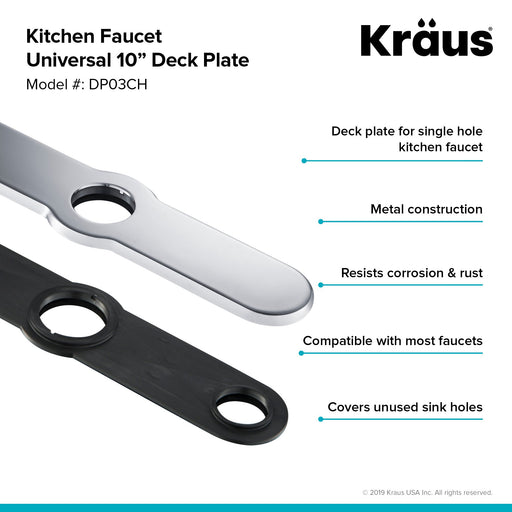 KRAUS Deck Plate for Single-Hole Kitchen Faucet