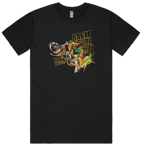 Bach Brewing Mens T-shirt - Bach Outta Hell Logo