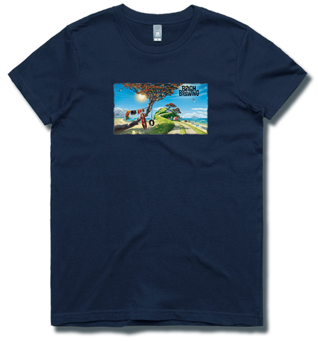 Bach Brewing Womens T-shirt - Kiwi Beach Scene