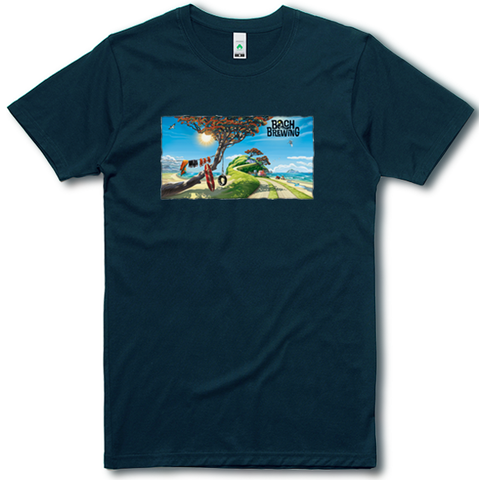 Bach Brewing Mens T-shirt - Bach Beach Scene