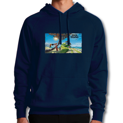 Bach Brewing Hoody - Bach beach scene
