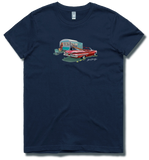 Bach Brewing Womens Short Sleeve T-shirt - Classic Convertible and Caravan