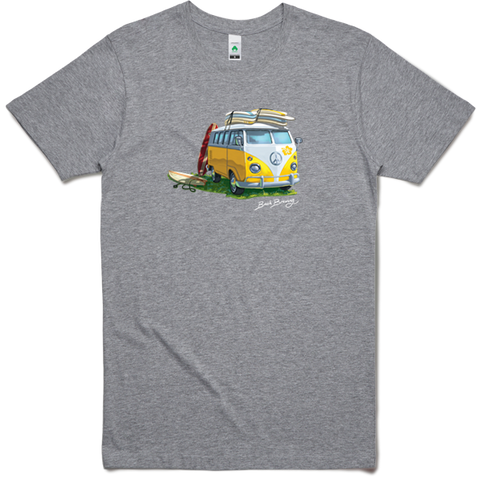 Bach Brewing Mens T-shirt - Surfer Kombi Van