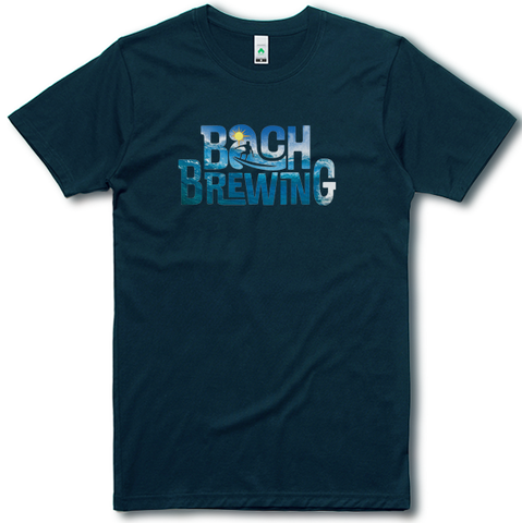 Bach Brewing Mens T-shirt - Wave Logo