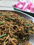 Roasted mealworms with saltbush and rosemary