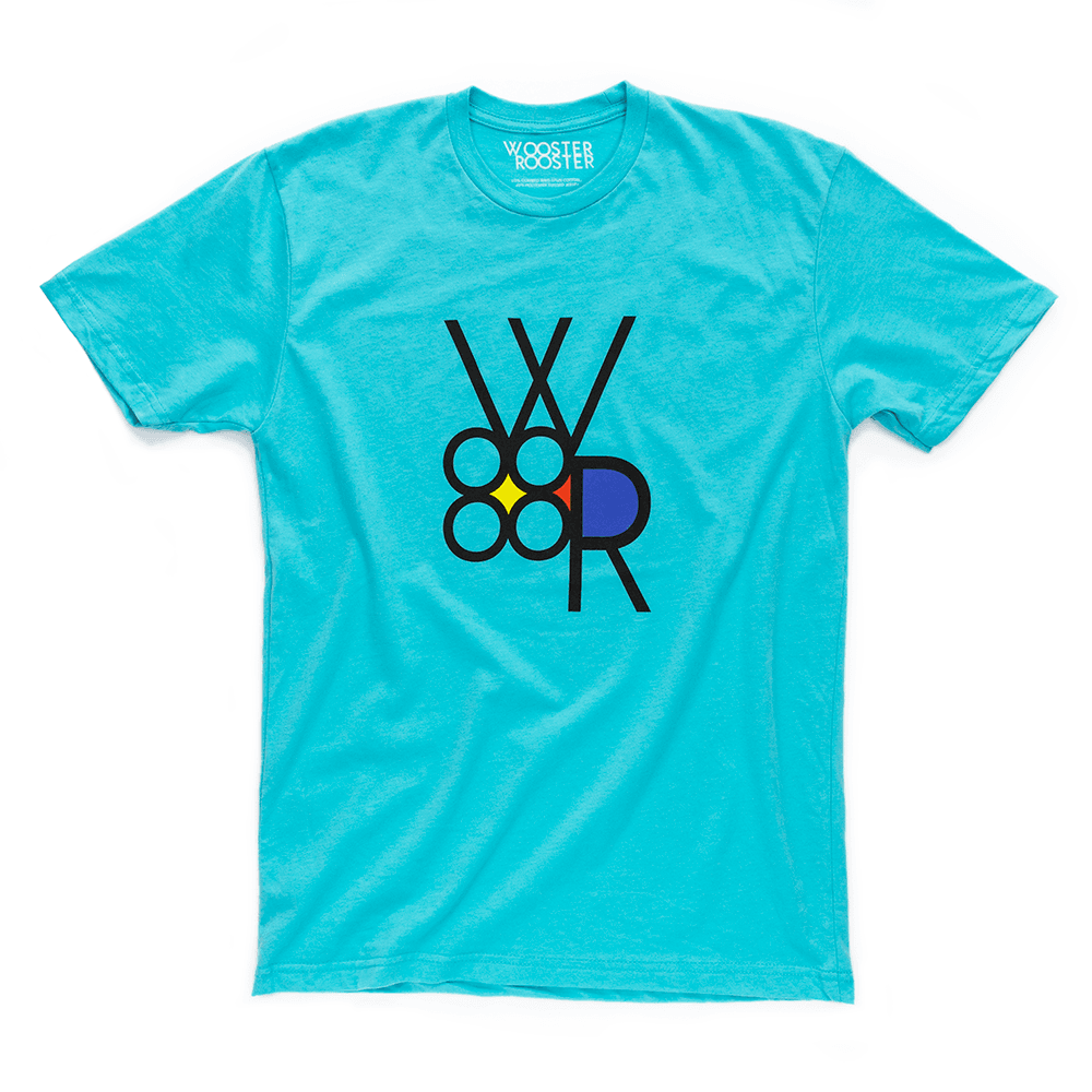 9df49c0e1a2 T-shirt featuring retro WR Logo graphic by Wooster Rooster ...
