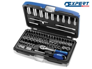 Expert Socket & Accessory Set of 73 A/F & Metric 1/4in Drive