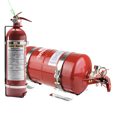 Lifeline 4 Litre Fire Marshal Mechanical Fire Extinguisher & 2.4 Litre Hand Held Extinguisher