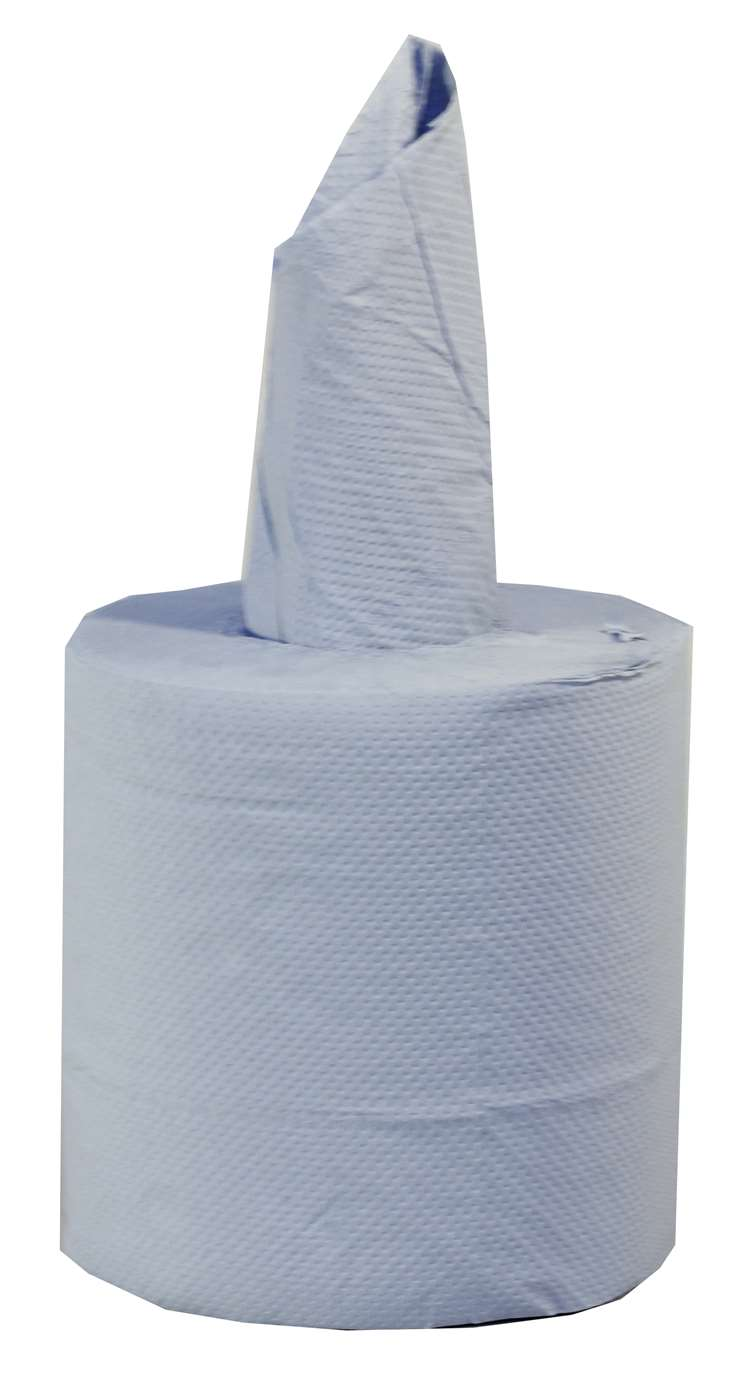 Centrefeed Roll 2 ply blue embossed x 1