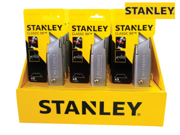 STANLEY Counter Display of 12 Knives