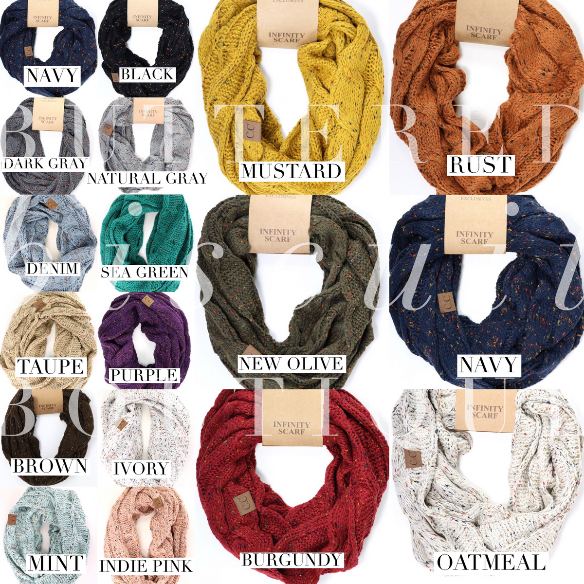 1afc97807 CC Beanie - Flecked Infinity Scarves – Buttered Biscuit Boutique