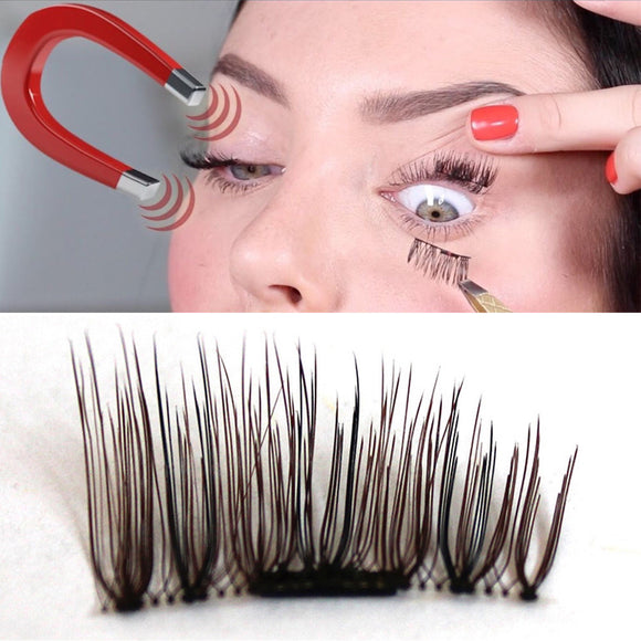 New Ultra Thin 04mm Magnetic Eye Lashes Natural 3d Fiber Reusable