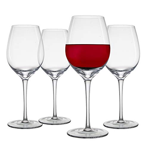 Chefoh Oversized Stemware Wine Glass - Comfy Lead-Free Crystal Glasses Perfect for Wedding - Parties and Bar - 17.5oz