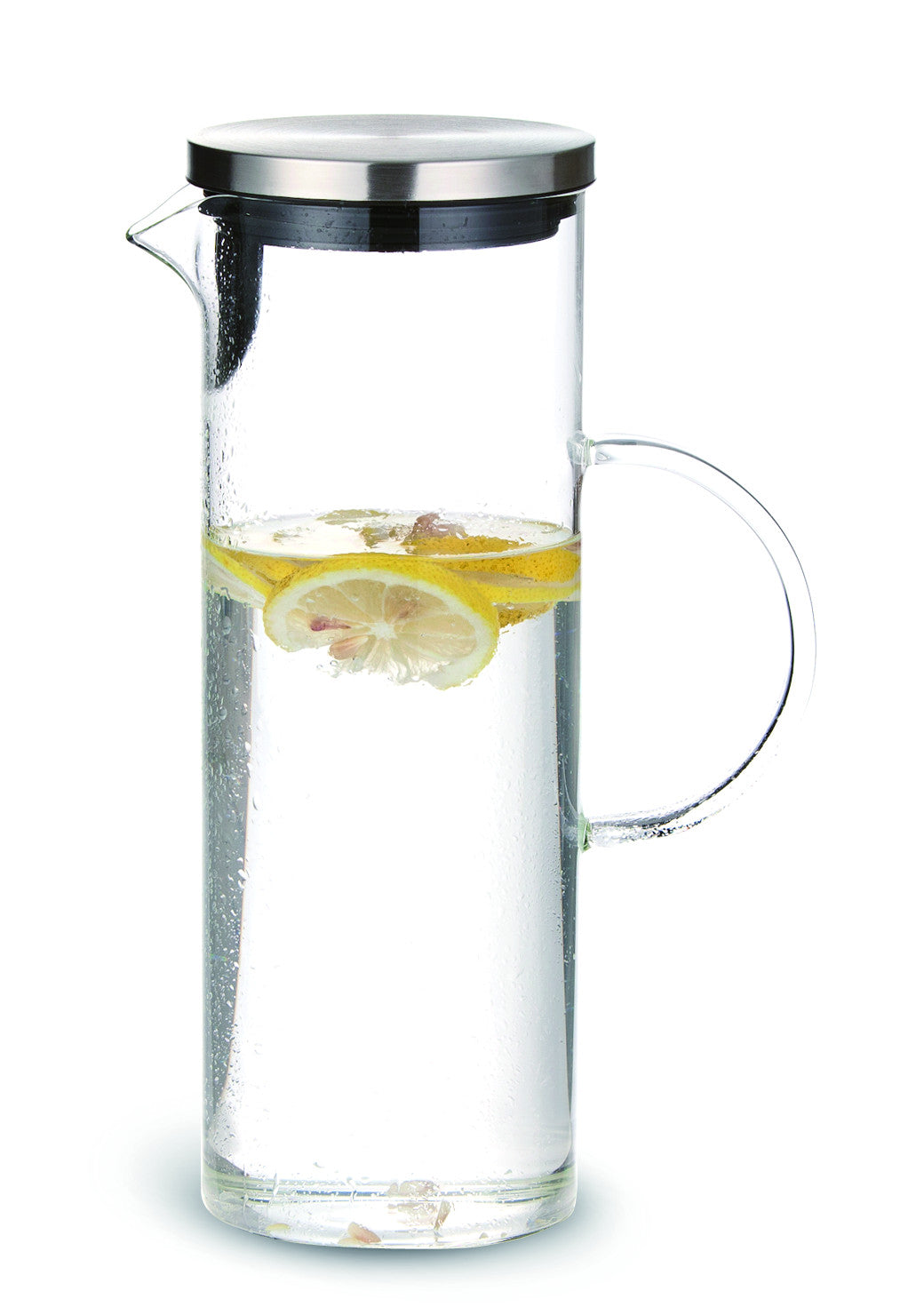 Chefoh Glass Pitcher with Lid - Unique Pattern Cold Water Jug - 1300 ML perfect for Homemade Iced Tea and Juice